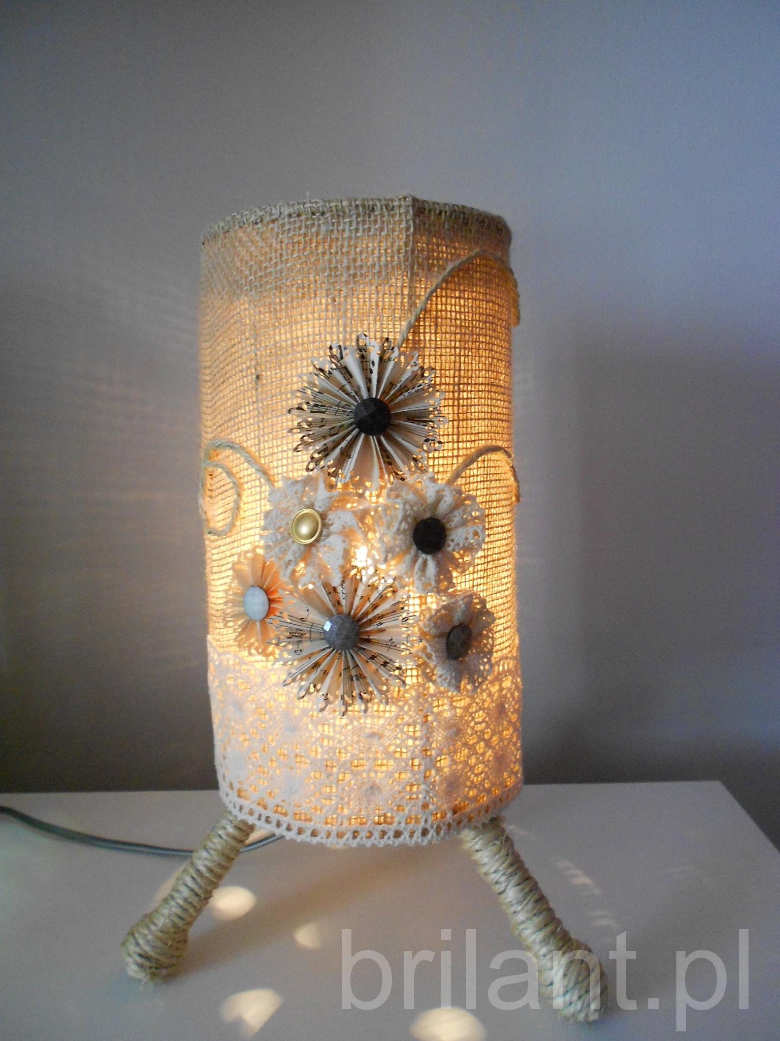 Jutowa lampka