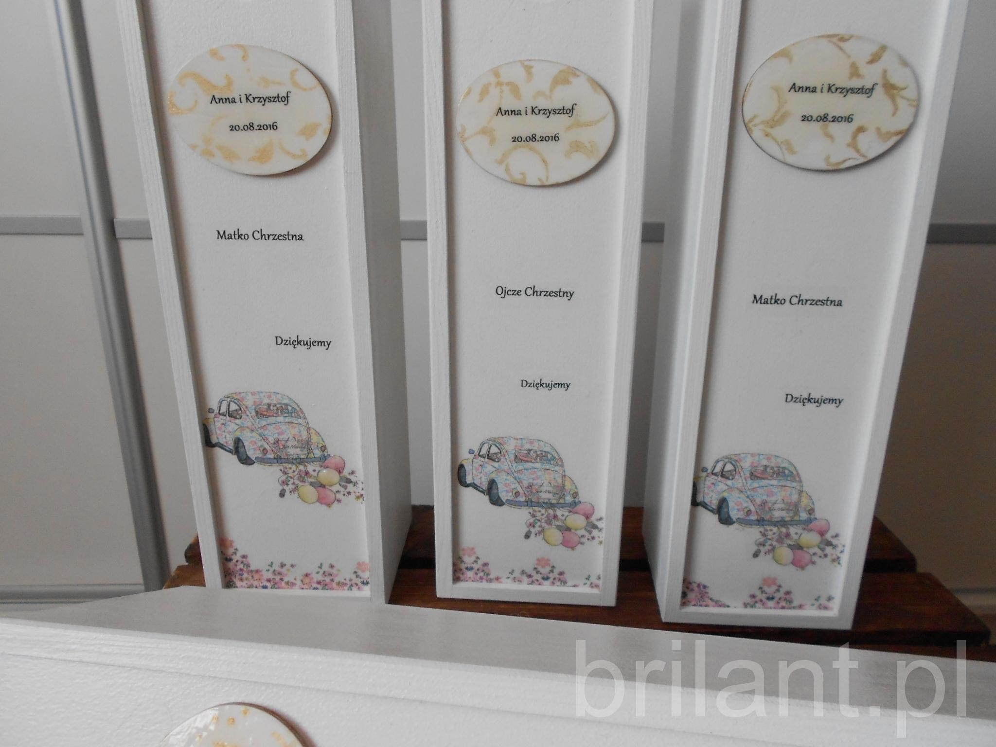 Ślubne skrzynki na wino