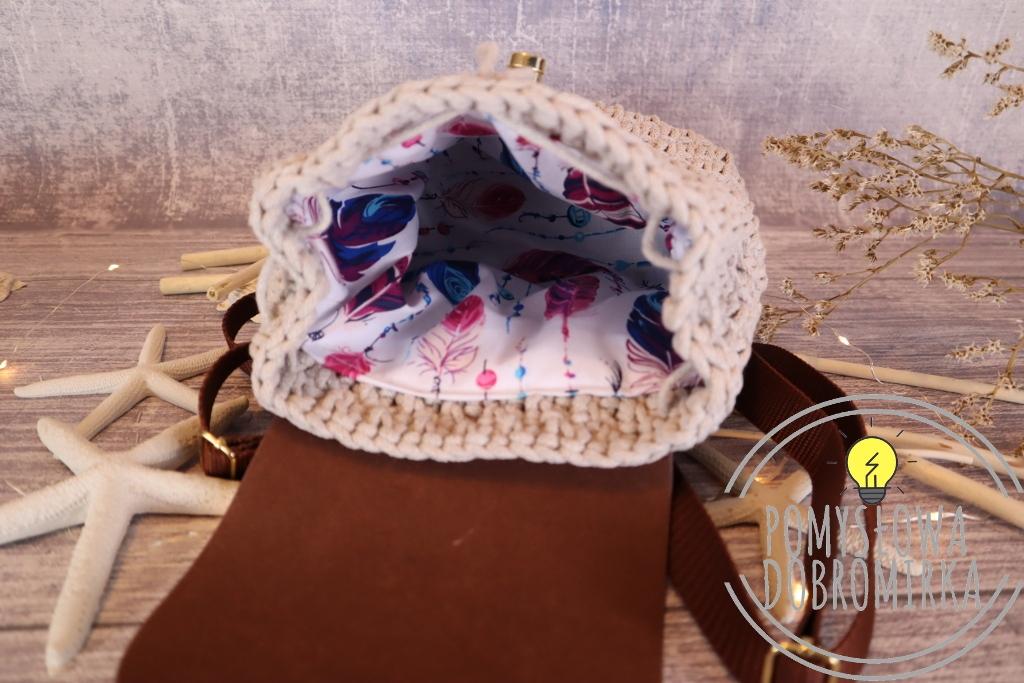 Szydełkowy plecak