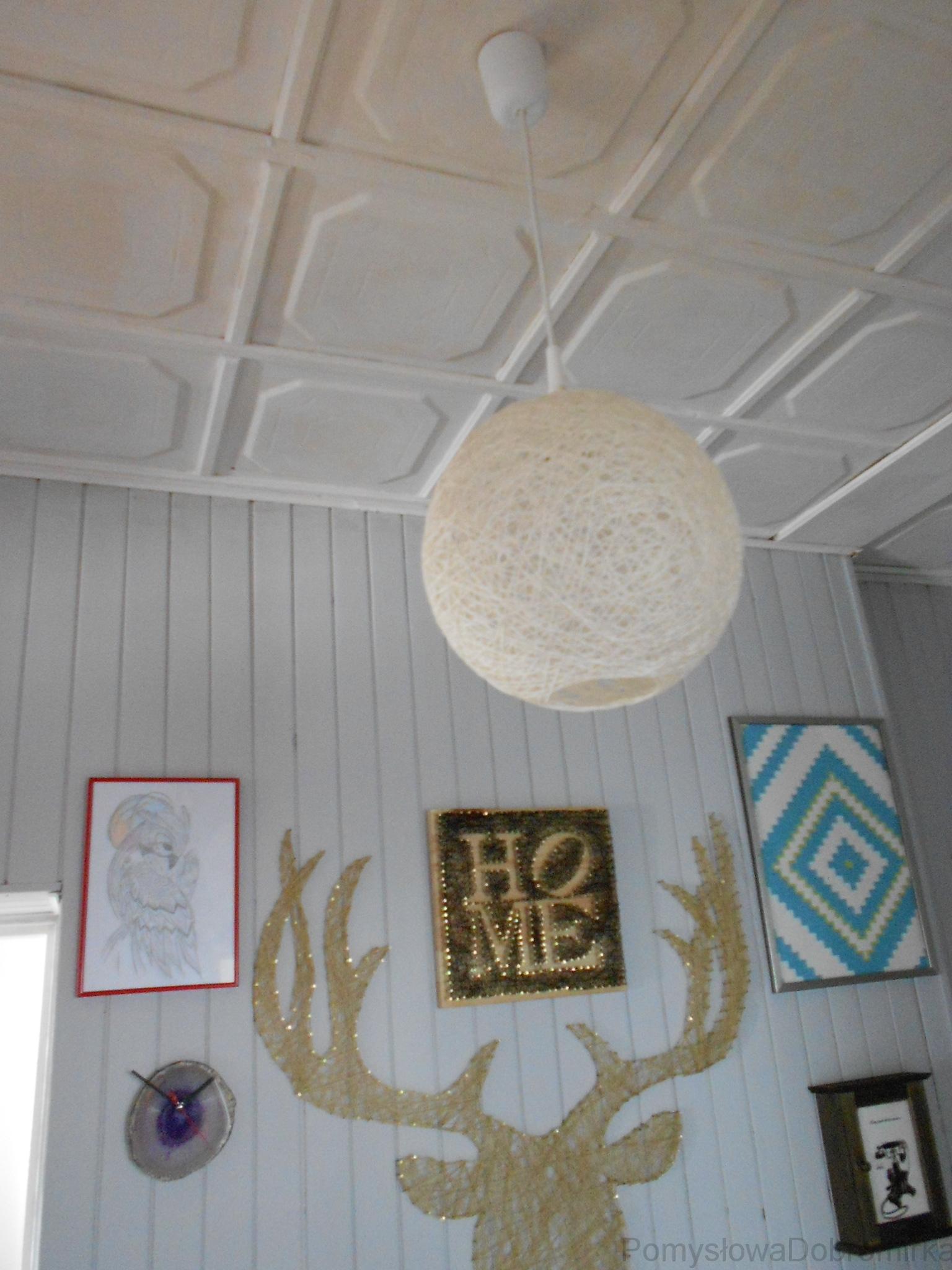 Lampa kula ręcznie robiona