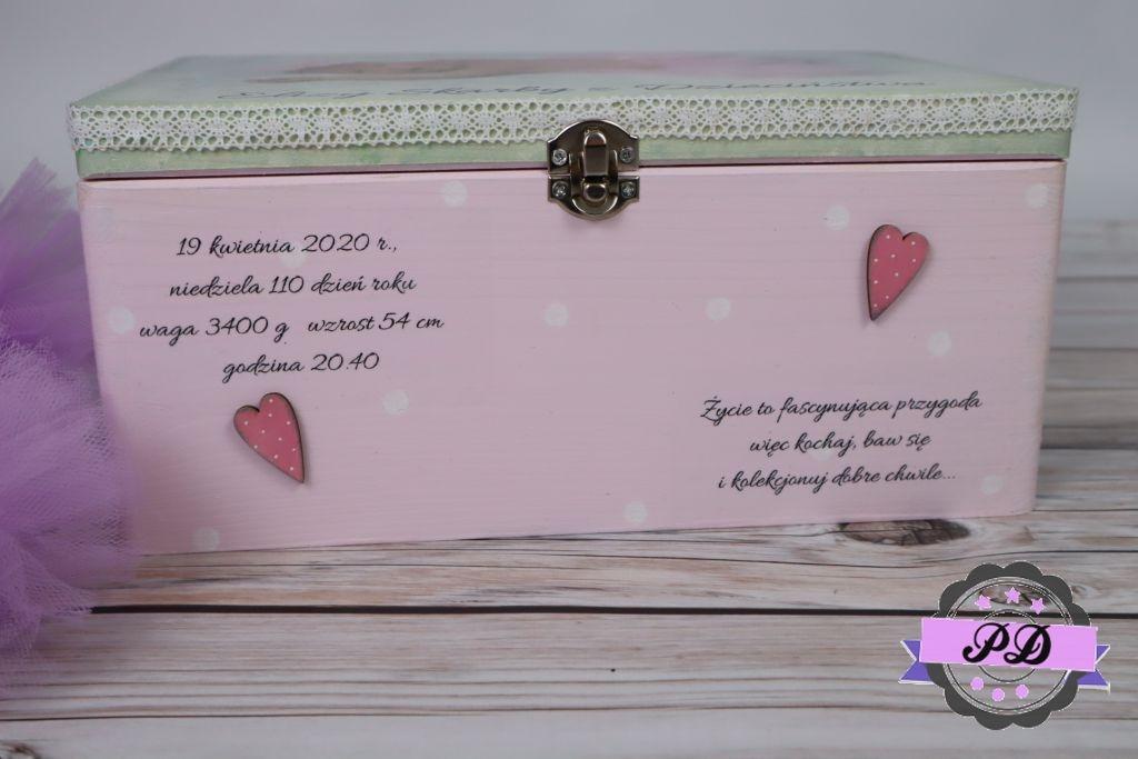 Personalizowany kuferek decoupage