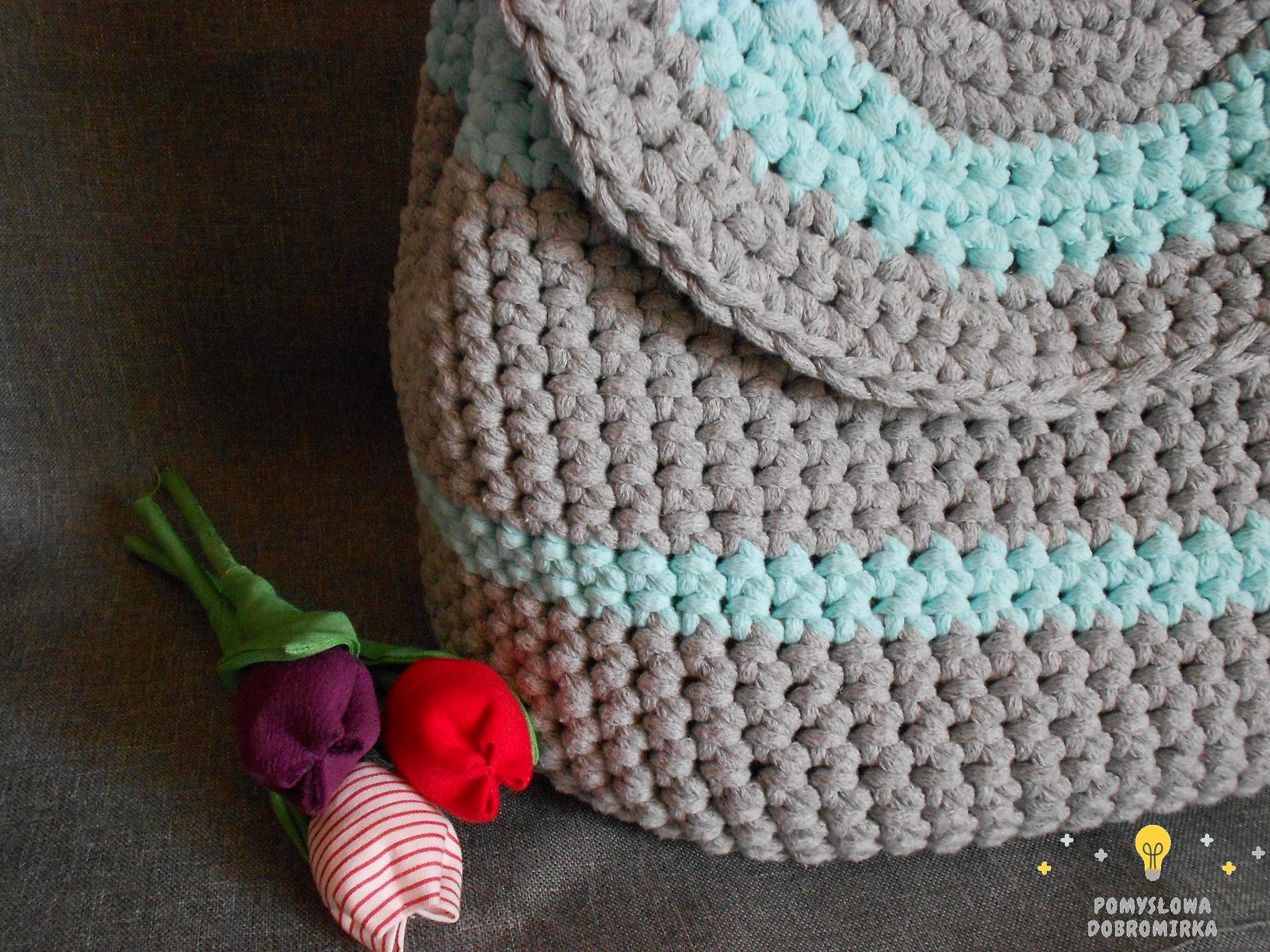 Szydełkowy plecak ze sznurka bawełnianego