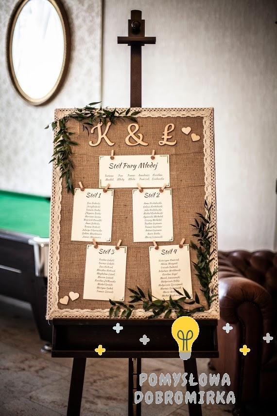 Tablica z rozsadzeniem gości