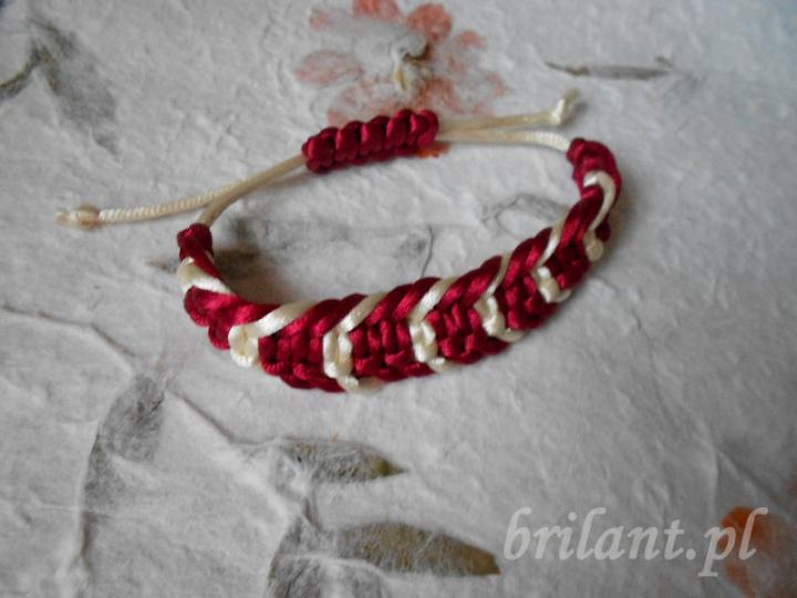 Bransoletka - makrama ze sznurka satynowego