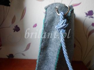 Filcowa torba z wycinanką