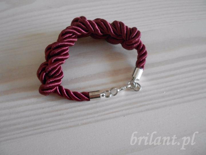 Bransoletka ze sznura marynarskiego