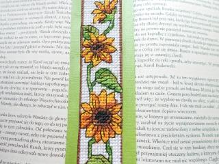 Zakładka do książki - słoneczniki