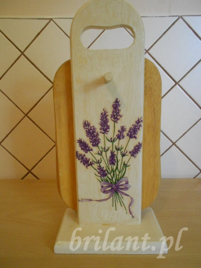 Stojak na deski kuchenne - decoupage